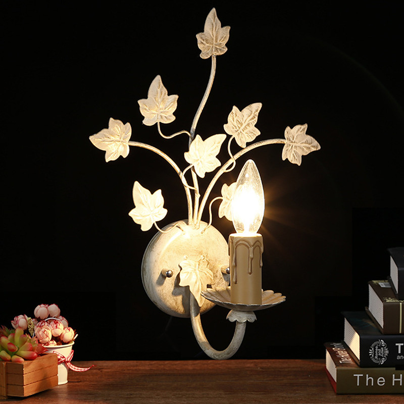 Retro Minimalist Flower Wall Lamp Novelty LED Iron Light Sconces Modern Indoor Home Lighiting for Living Room Bedroom Corridor
