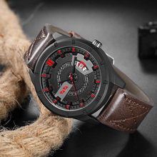 Relogio Masculino Mens Watches Top Luxury Brand Fashion Sports Waterproof Watch Men Leather Quartz Clock Male reloj hombre 2018 недорого