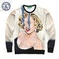 BAOLONG новая мода Мэрилин Mo 3D печатных Капюшоном толстовка мужчины женщины любовник случайные мило костюм crewneck наруто куртка одежда