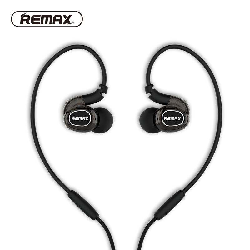REMAX HIFI In-ear Earphones Reduce Noise Sport Stereo Audio Earhuds Earhook Hip-pop Super Clear Sound Headphone for Mobile Phone