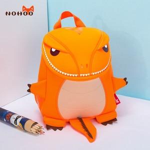 Image 3 - NOHOO Toddler Kids Dinosaur Backpack for Boys Children Dinosaur Bookbag Toys Bag Waterproof 3D Cartoon Girls Preschool Backpack