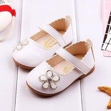 COZULMA Baby Girl Princess Rhinestone Flower Shoes Toddler Party Anti-slip Flat Casual Enfants Size 15-25