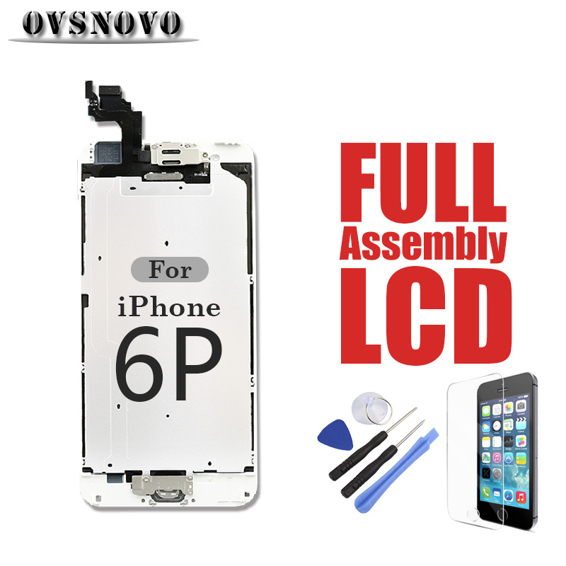 For iPhone 6Plus LCD Full Replacement Assembly Touch Screen Digitizer Parts Panel Complete Set 6P Front Camera Home Button GlassFor iPhone 6Plus LCD Full Replacement Assembly Touch Screen Digitizer Parts Panel Complete Set 6P Front Camera Home Button Glass