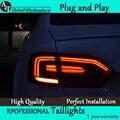 A & T estilo do carro para Jetta MK6 lanternas traseiras américa do norte projeto Jetta LED Tail Light lâmpada traseira DRL + freio + parque + Signal
