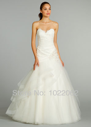 Asymmetrical Ivory Wedding Dress