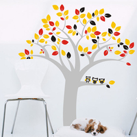 2015 New Tree Vinyl Wall Decal Colorful Tree Birds Mural Art Huge Wall Sticker Living Room Home Decoration Removeable