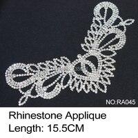 2017ขายจำกัดรองเท้าRa045 R Hinestone A Pplique 2ชิ้น/ล็อตคริสตัลที่ชัดเจนและเย็บฐาน