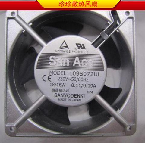 Original Sanyo SANYO109S025UL 230V 120 * 120 * 38 aluminum frame AC fan