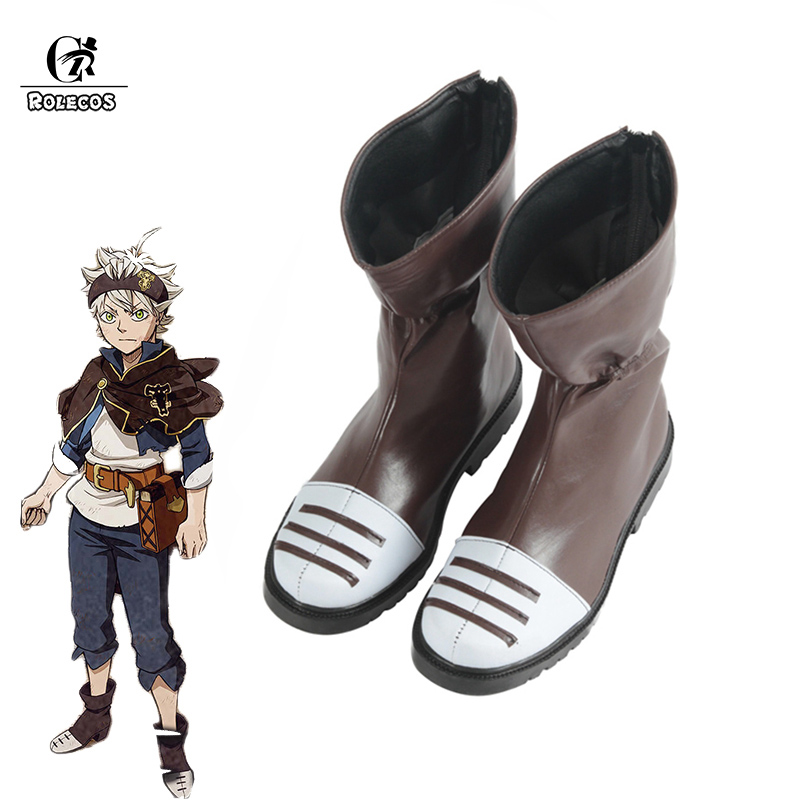 ROLECOS Black Clover Anime Cosplay Shoes Asta Cosplay Boots Men Shoes