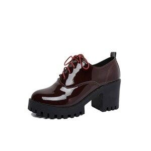 Image 4 - 春の 2019 新スタイル英語女の子厚いとセクシーなハイヒール学生のための女性の靴ファッション