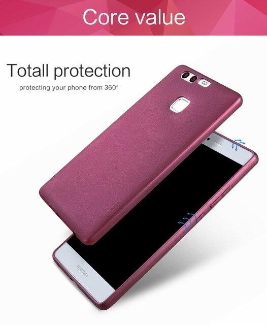X-mức độ người giám hộ mềm matte tpu case cho huawei p9 scrub trở lại bìa cho huawei p9 eva-l09 dual sim eva-l19 eva-l29 silicone case