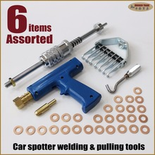 stud welder welding tool dent repair kit auto body ding damage pulling system slide hammer claw hook gun washers