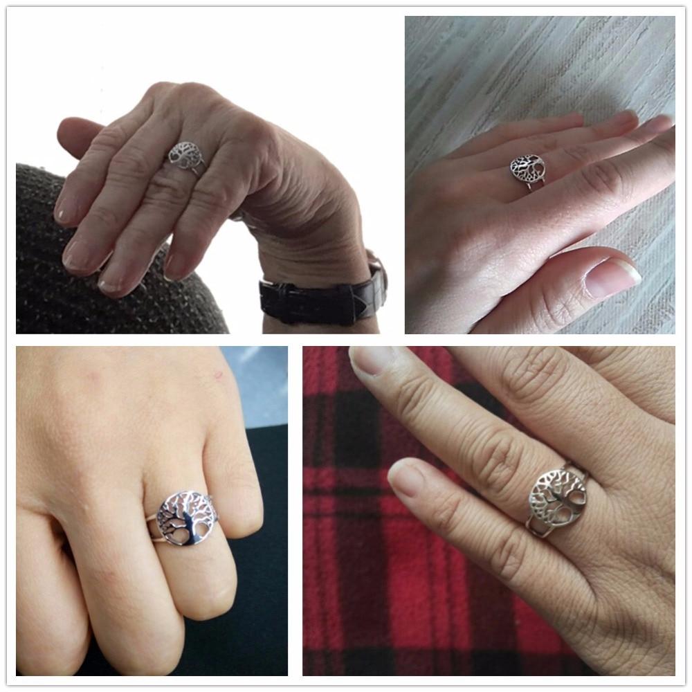 Pohon kehidupan Aksesoris Klasik 925 Sterling Cincin Perak Untuk - Perhiasan fashion - Foto 4