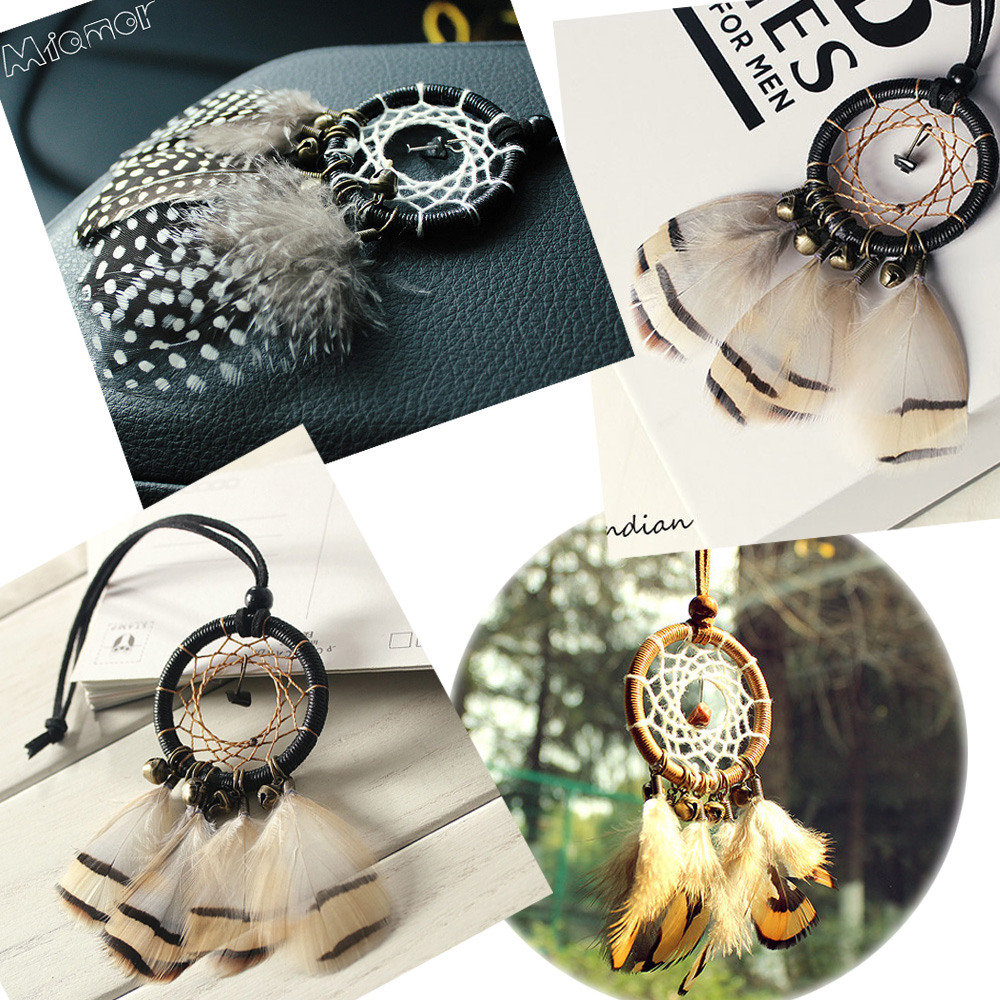 3 Styles Small Bronze Bells Dreamcatcher & Wind Chimes Car Pendant & Home Decor & Wall Hanging Dream Catcher Regalo Amor03693(China)
