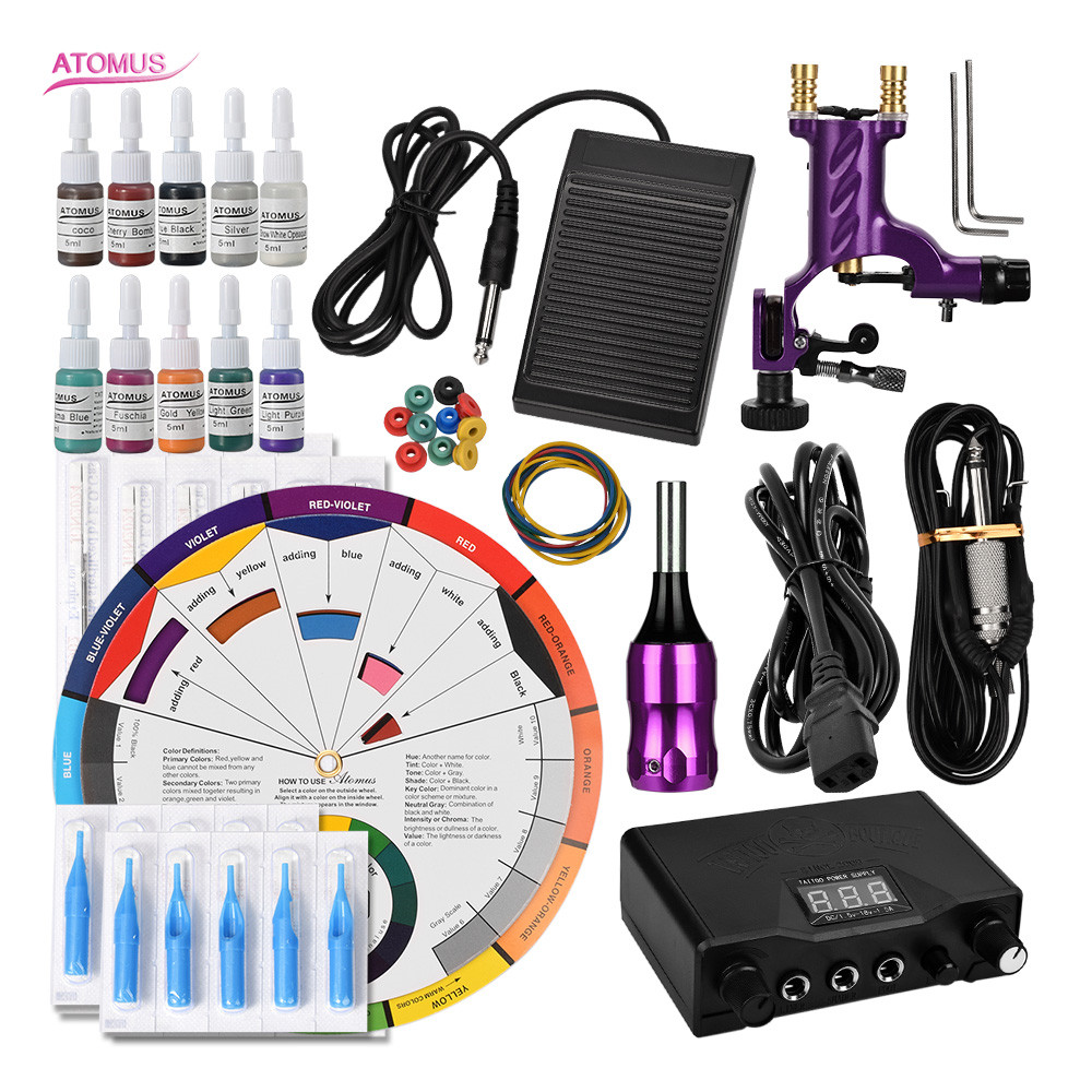 Tattoo Machine Rotary Kits Machines Kit De Tatuagem Rotary Tattoo Pen Tatoo Set Up Tatuar Machine Permanent Supplies Pedal SetTattoo Machine Rotary Kits Machines Kit De Tatuagem Rotary Tattoo Pen Tatoo Set Up Tatuar Machine Permanent Supplies Pedal Set