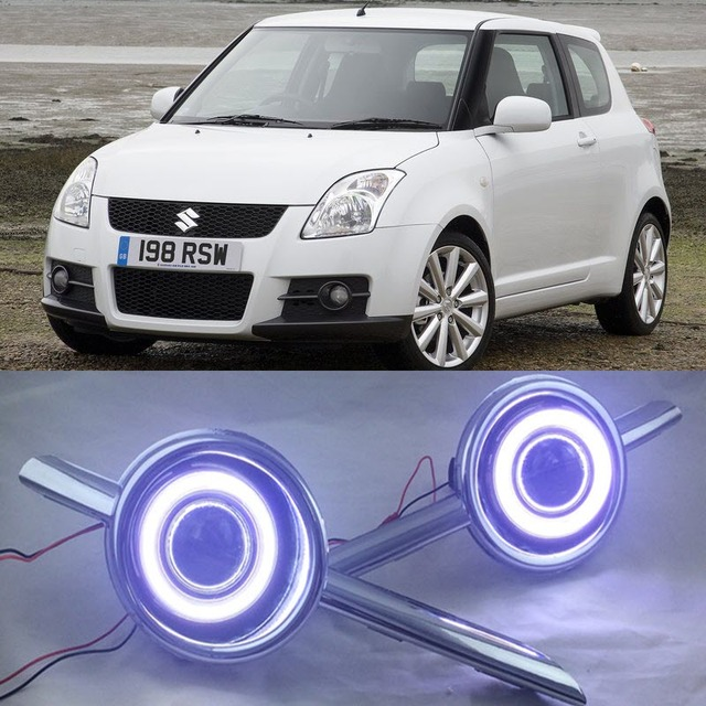 eemrke car styling for suzuki swift sport 2007 led angel. Black Bedroom Furniture Sets. Home Design Ideas