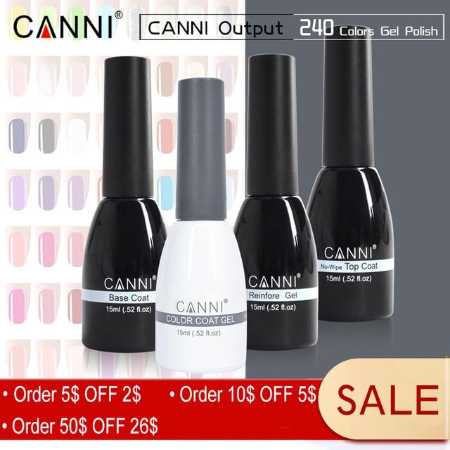 CANNI 15ml LED Nail Gel Varnish New Hottest Color Glitter Sequins ...