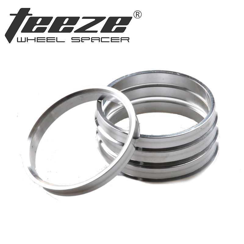 Teeze 1 Set Aluminum hub centric rings OD 72 6 to ID 65 1 centering rings Car Accessories Center Ring