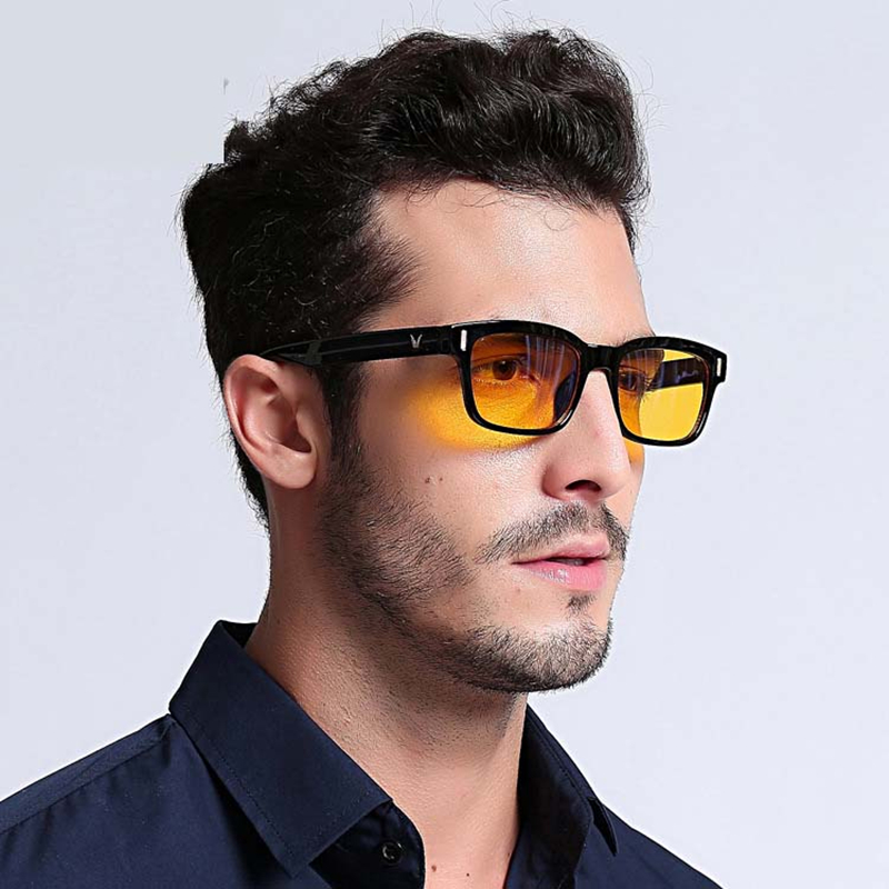 Anti Blue Ray Computer Glasses Radiation Eyewear Brand Design Office Game Scree Light Filter Goggle V Shaped Light Comfortable