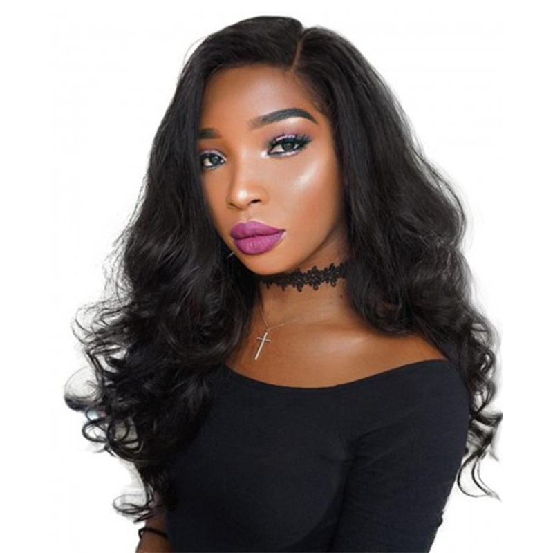 250% Denstiy Lace Front Human Hair Wigs For Black Women Natural Color Brazilian Remy Hair Body Wave You May Hair
