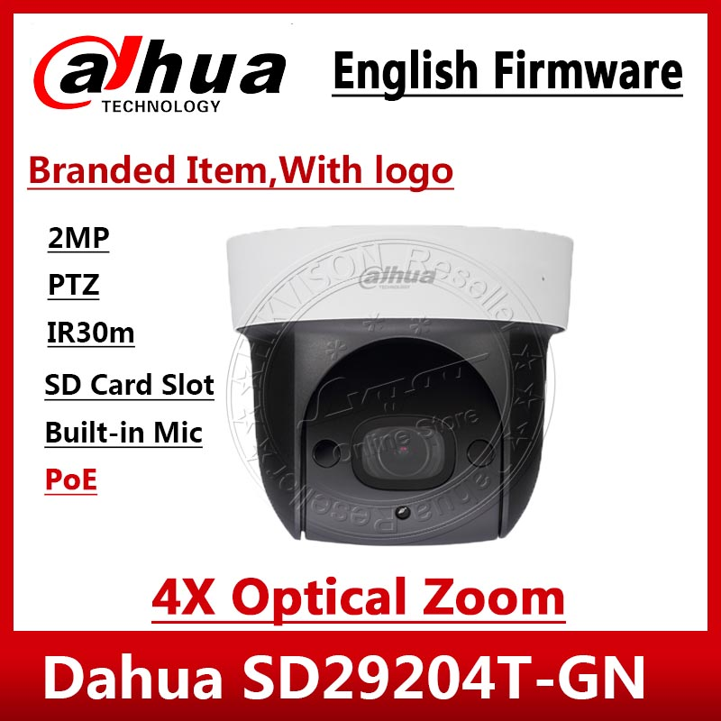 Dahua Original SD29204T GN 2Mp Mini IR PTZ 4x optical zoom IR 30M Micro SD Built