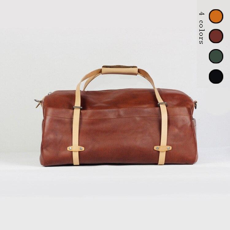 Hommes sacs de voyage en cuir véritable grand capacity2017 Voyage Sac Hommes Duffle Sac en cuir Véritable grand épaule week-end durable sacs