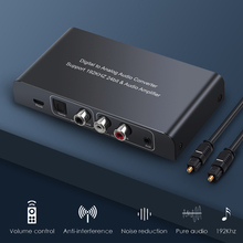 PROZOR DAC Digital To Analog Audio Converter With IR Remote Control Optical Toslink Coaxial To RCA 3.5mm Jack Adapter 192kHz