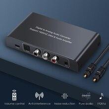 PROZOR DAC convertisseur Audio numérique vers analogique avec télécommande IR optique Toslink Coaxial vers RCA 3.5mm adaptateur Jack 192kHz
