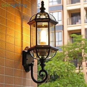 Image 5 - Luz de pared al aire libre, lámpara de pared del porche de la puerta delantera impermeable, aplique del hogar Decoración interior iluminación lámpara patio jardín