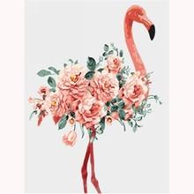 H1301 large diy diamond painting,diamond painting full square new arrival,diamond Flamingo