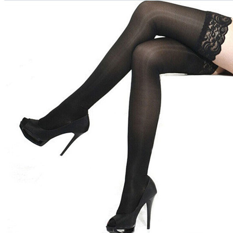 Sex Toys For Woman Adult Erotic Accessories Black Sexy Lace Stockings Women Thigh High Fishnet Embroidery Transparent Pantyhose