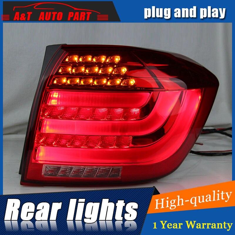 Car Styling for Toyota Highlander Taillights 2012 Highlander LED Tail Lamp LED Rear Lamp DRL+Brake+Park+Signal led light.