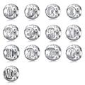 Новое Прибытие 925 Серебряные Бусины с буквами AM Моды Diy Кристалл Серебряные Шарики Fit Женщины Пандора Браслеты и Браслеты