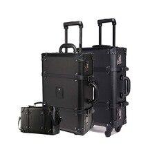 655e054c03e6a LeTrend Retro Haddeleme Bagaj Seti Spinner Kadın Şifre Arabası 24 inç Bavul  Tekerlekler 20 inç Vintage Kabin Seyahat Çantası Göv..