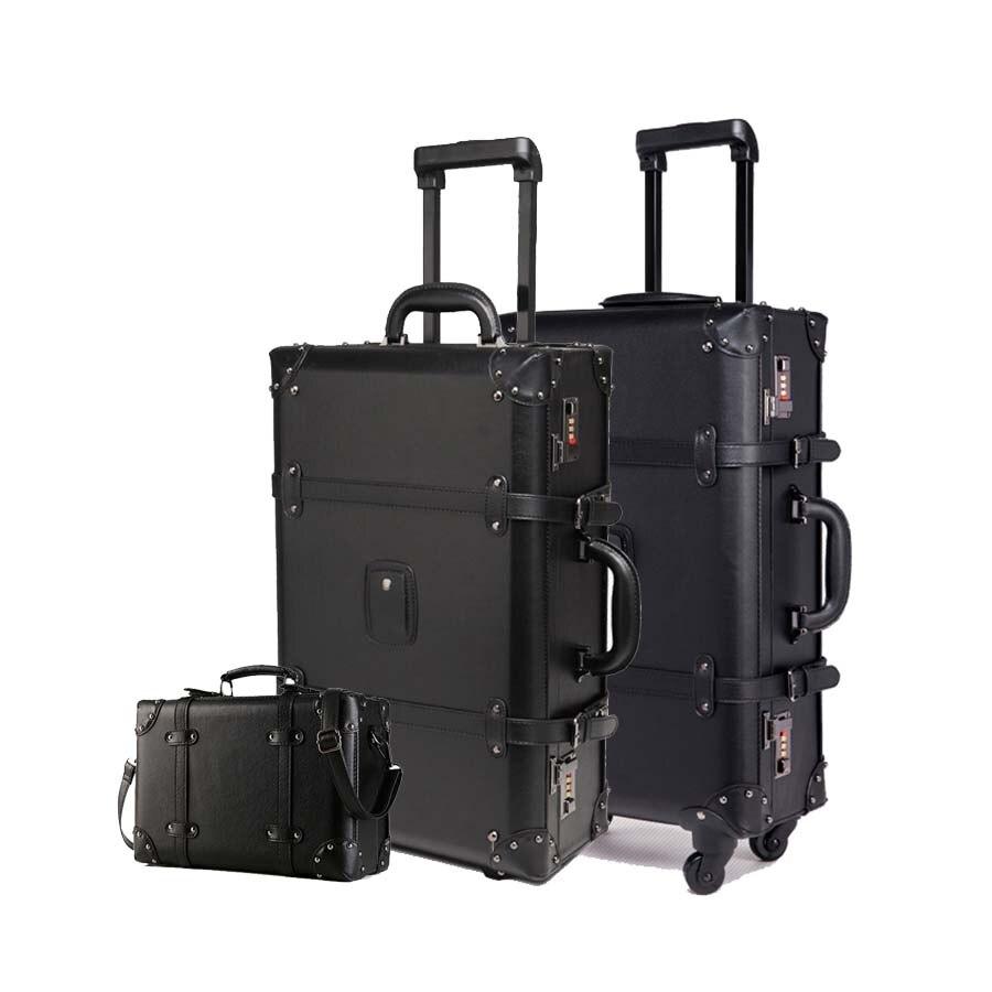 LeTrend rétro bagage à roulettes ensemble Spinner femmes mot de passe chariot 24 pouces valise roues 20 pouces Vintage cabine voyage sac coffre