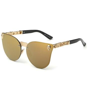 Fashion Luxury Sunglasses Women Brand Designer Skull Sun Glasses For Ladies Retro UV400 Anti-Reflective Female Oculos RS082 4