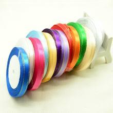 Шелковая тканевая лента 10 мм 25 ярдов шелковая атласная для