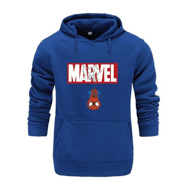 Marvel Hoodies Men Brand 2019 New Spiderman Funny Long Sleeve Hooded Sweatshirt Mens Hoodie Tracksuit Sweat Coat Casual homme 4