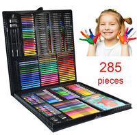 VIVCOR Art Set For Kids 285 Piecs For Sketching And Drawing With Wood Case Drawing Tool