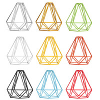 Lampshade Modern Lamp Cover Loft Industrial Edison Metal Wire Frame Ceiling Pendant Hanging Light Lamp Cage