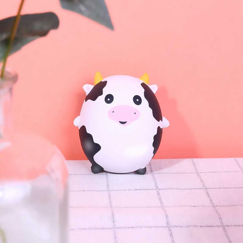 Милый кавайный мягкий мультфильм Животные панда Единорог свинья кошка яйца медленно поднимающиеся антистресс новые смешные игрушки для детей