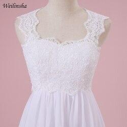 Weilinsha Cheap Stock Beach Wedding Dress Chiffon Lace Long Wedding Gowns Pregnant Bridal Dresses Plus Size Robe De Mariage 5