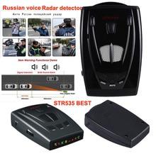 Melhor Anti STR535 Rússia Radar detector de Detectores De Radar Do Carro de Voz 16 marca display led x k nk ku ka laser controle de velocidade