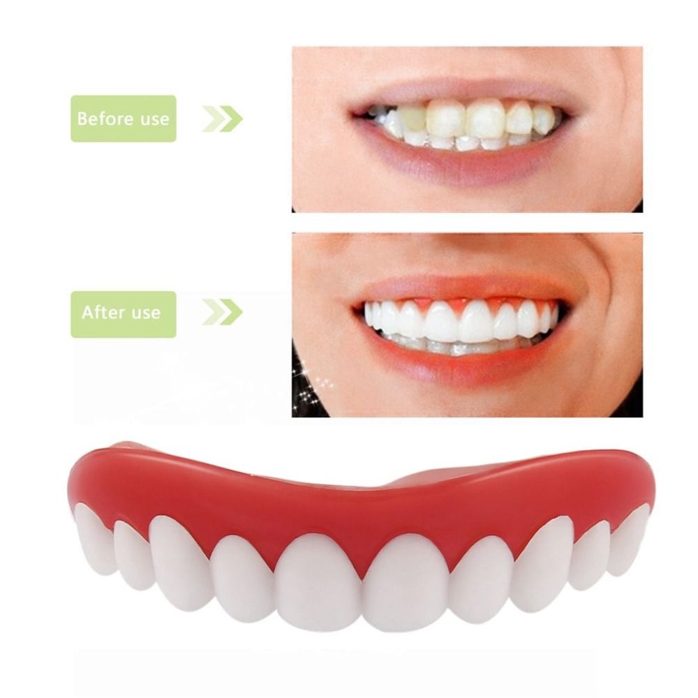 YKS Comfortable Natural Silicone Whitening Veneers Men Women Teeth Upper Cosmetic Veneer Perfect Smile Tooth Cover Beauty Tool