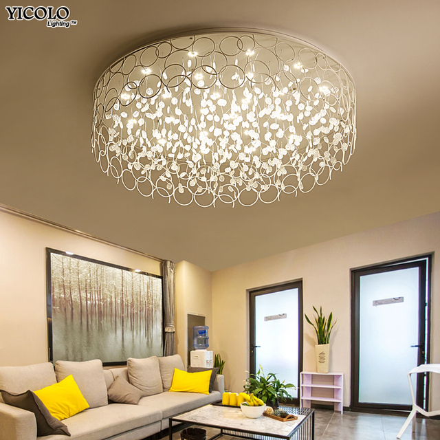 ceiling lights for living rooms aqua blue room furniture art designer led in round shape lamps bedroom home deco study fixtures lamparas de techo