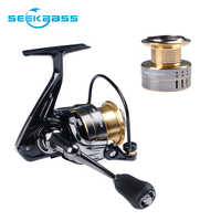 Seekbass 5.2:1 Fishing Reel SK1000 Spinning Reel 5KG Max Drag Power Bass Carp 2 Spools Fishing Reel Fishing Tackles