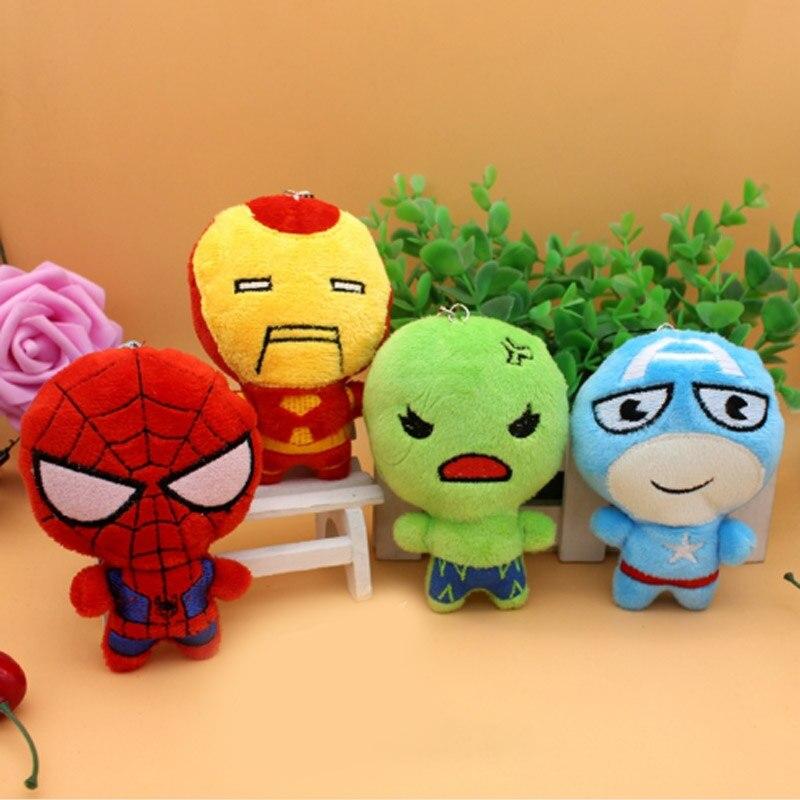 Marvel Avengers 4 Superhero Plush Toys Dolls Captain  Iron Man Spiderman Thor Plush Decoration Accessories Soft Toy