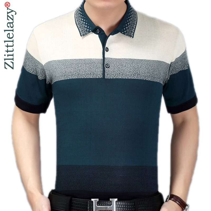 2019 summer short sleeve knitting   polo   shirt men clothes striped fashions   polos   tee shirts pol cool mens clothing poloshirt 960