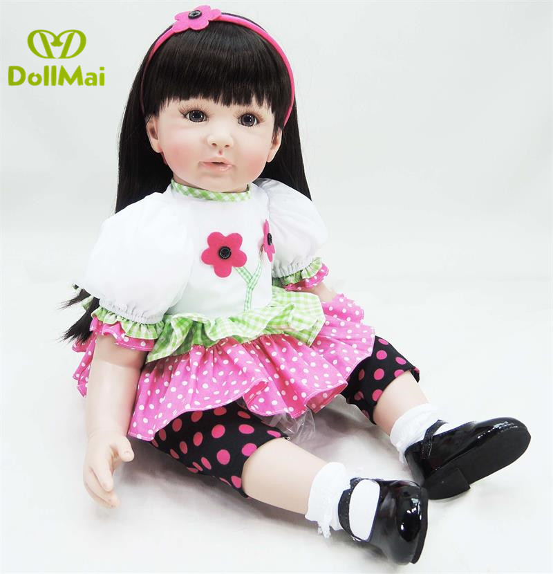 60cm Silicone Reborn Babies Dolls Toy Like Real baby doll Vinyl Princess Girl Toddler Doll child bebe gift reborn bonecas 60cm Silicone Reborn Babies Dolls Toy Like Real baby doll Vinyl Princess Girl Toddler Doll child bebe gift reborn bonecas