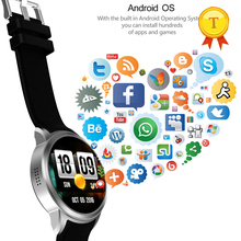 2017 new arrival Android 5.1 Smartwatch Phone clock with facebook twitter Support 3G wifi Nano Heart Rate Monitor app download